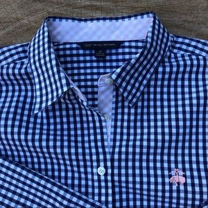 NWOT Brooks Brothers 346 button down navy gingham